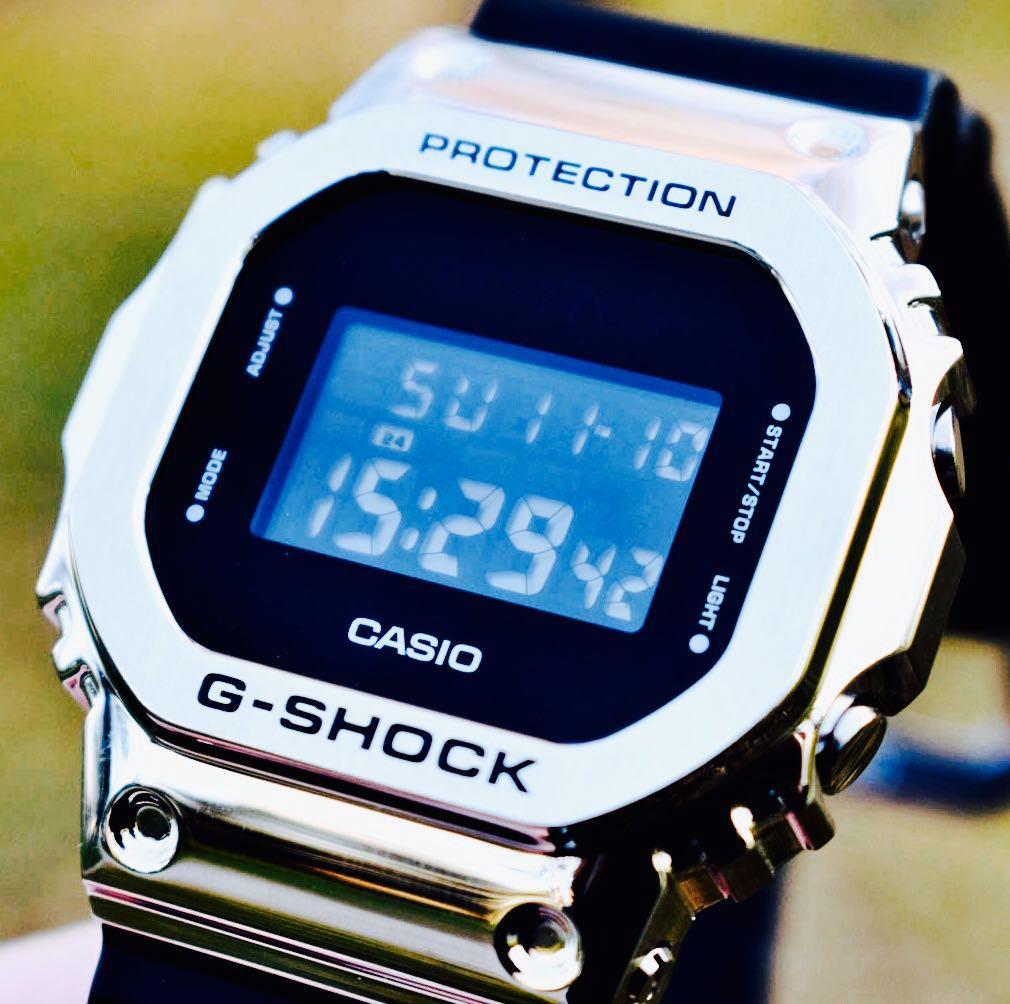 NEW🌟EDITION : GSHOCK UNISEX DIVER SPORTS WATCH : 100% ORIGINAL AUTHENTIC CASIO G-SHOCK : GM-5600-1DR / GM-5600-1 / DW-5600-1 (SILVER-BLACK)