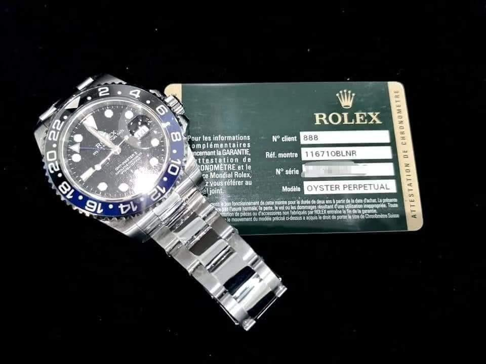 PREOWNED ROLEXGMT MASTER II,  116710 BLNR, Oystersteel, 40mm, Alphanumeric Series, Year 2013 Mens Watch