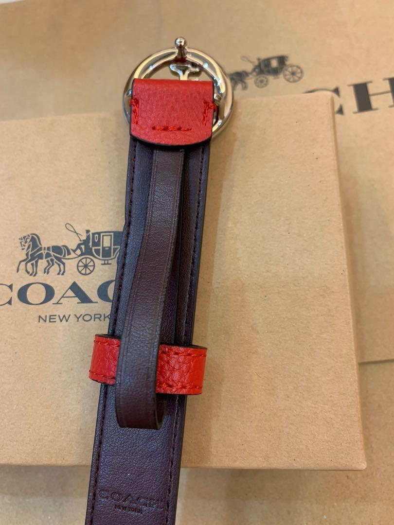 Ready Stock authentic coach 78181 women red belt