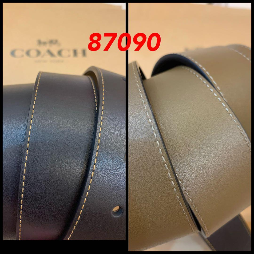 Ready Stock Authentic Coach Men reversible leather Belt set gift collection permanent link ABCDE
