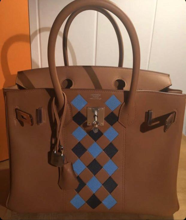 Super Rare The Only BNIB HERMES Birkin 30 Tressage De Cuir In Gold PHW D. Complete Set with Original Europe Receipt 2019