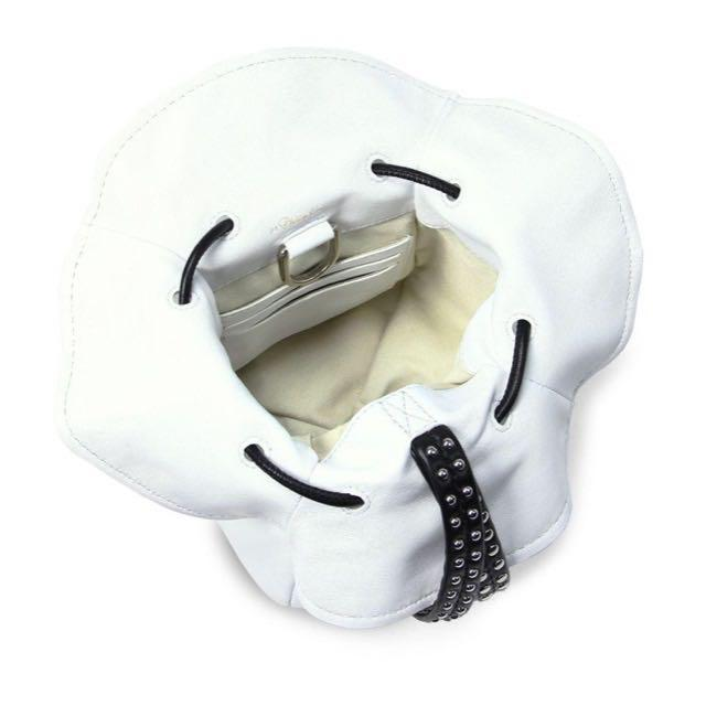 White Mini Ray Leather Glove Pouch from 3.1 Phillip Lim