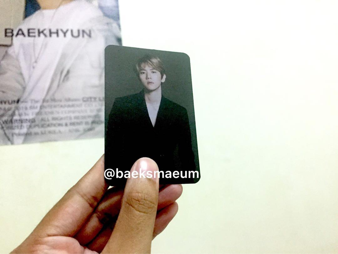 WTS EXO BAEKHYUN OFFICIAL LIGHTSTICK LS PHOTOCARD PC