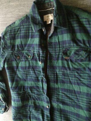 Timberland 羊毛格紋外套