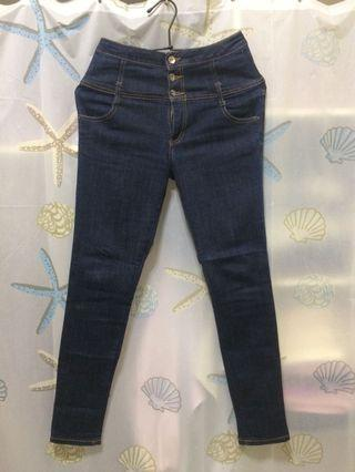日本品牌Heather高腰丹寧長褲(深藍)+(藍)共2件 專屬賣場