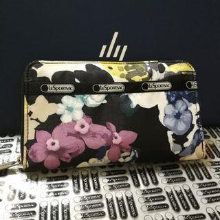 LeSportsac專櫃 花卉長夾 發財包
