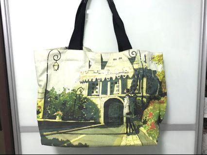 England Style Large Canvas Tote Bag