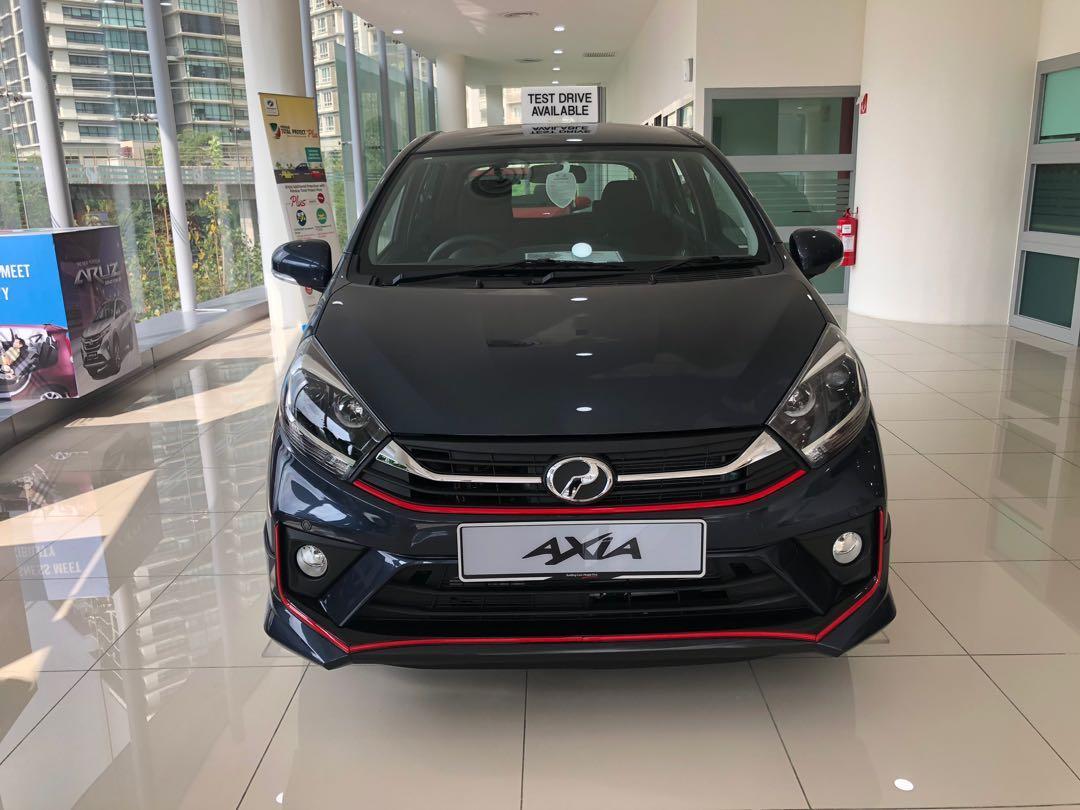 2020 Perodua Axia 1.0 SE (A) Midnight Blue Maximum Loan Fast Stock