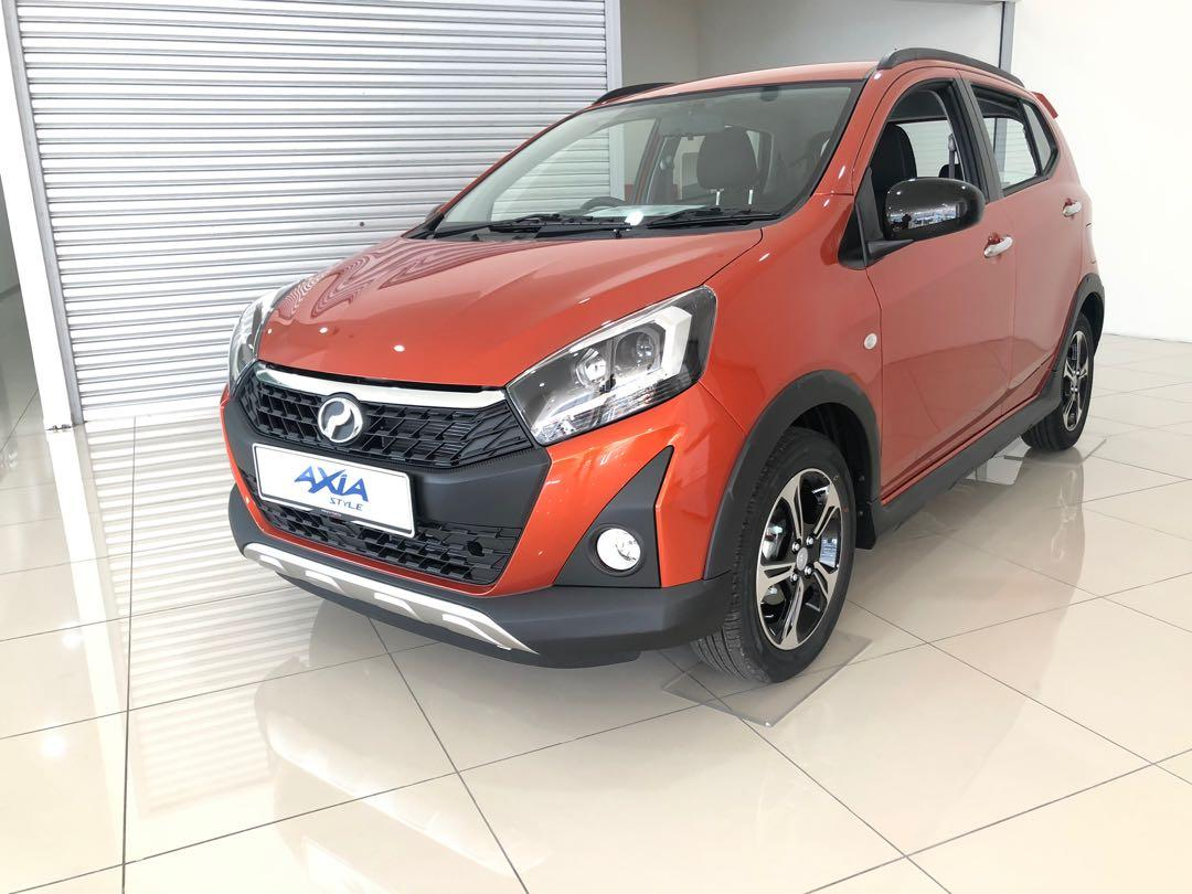 2020 Perodua Axia 1.0 STYLE (A) Sunrise Orange Maximum Loan  Fast Stock