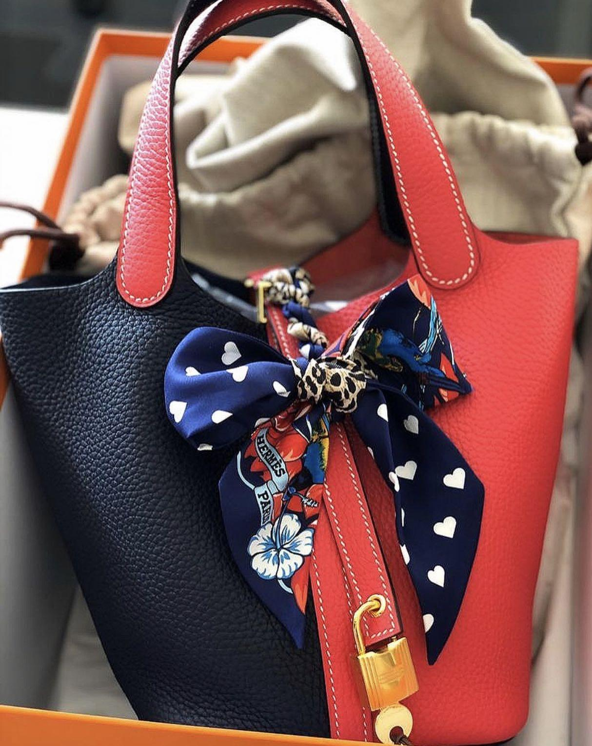 🆕 AUTHENTIC HERMES PICOTIN 18 BLUE NUIT / ROSE EXTREME CLEMENCE IN GHW