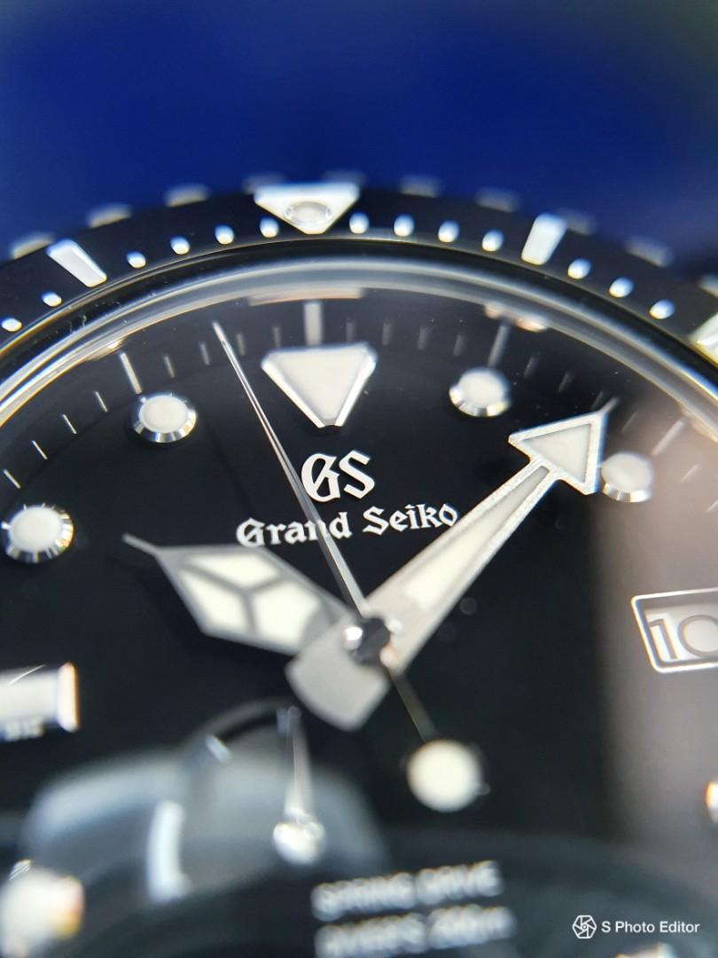 * FREE DELIVERY * Brand New 100% Authentic Grand Seiko Spring Drive Divers Men's Casual Watch SBGA229