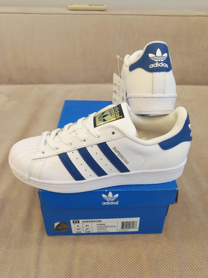 Adidas Superstar Blue Stripes, Women's