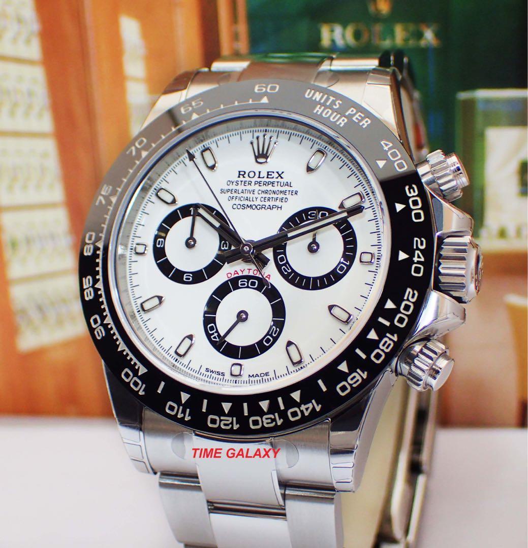 Brand New ROLEX Cosmograph Daytona Black Ceramic White Dial 116500 - 40mm Auto Chrono watch