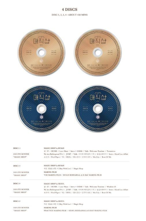 [CAN SHIP] BTS 5th Muster Magic Shop DVD / Blue-Ray (NOT 2ND PYMT)