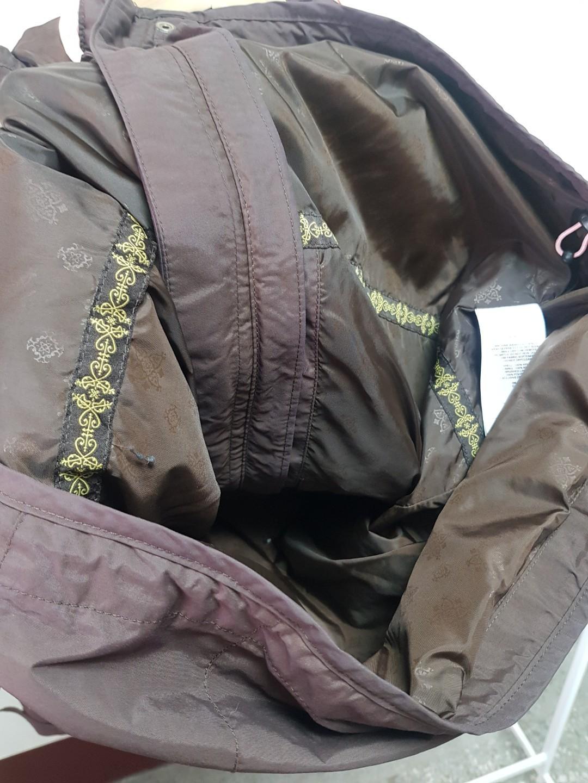Columbia 女版 咖啡粉紅拼色 衝鋒外套omni tech防水外套L號#月底五折