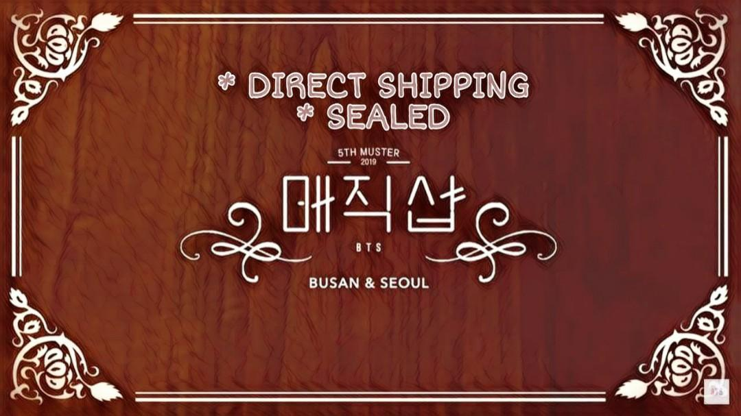(Fast Order) BTS 5th Muster Magic Shop in Seoul and Busan DVD