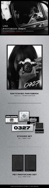 [GO] BLACKPINK : LISA PHOTOBOOK [0327] -LIMITED EDITION- *Ktown4u Pre-order benefit : Unrevealed Photocard 2ea 1set