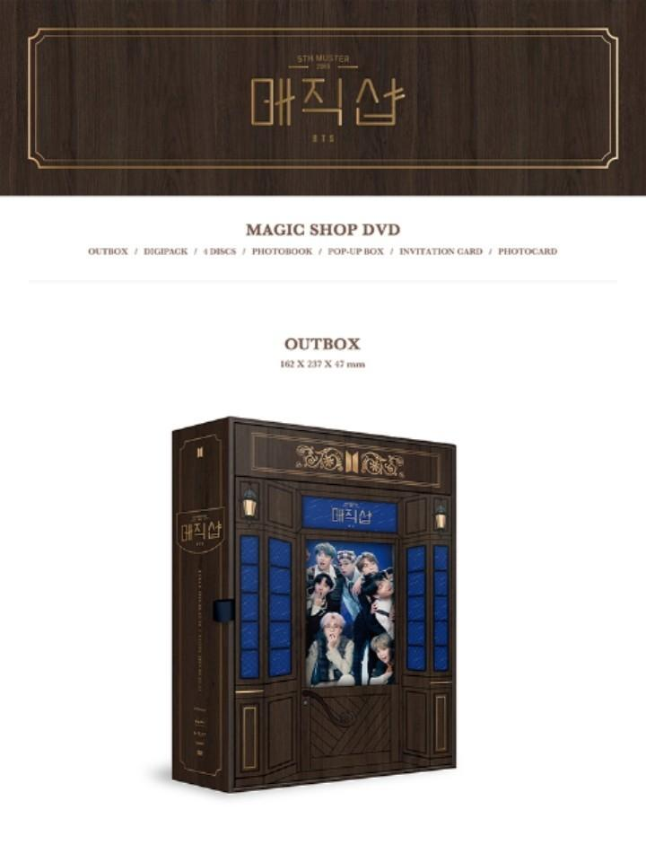 [GROUP BATCH] BTS - 2019 5TH MUSTER (MAGIC SHOP) DVD