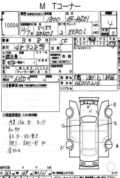 Mitsuoka Zero one MS02 Manual
