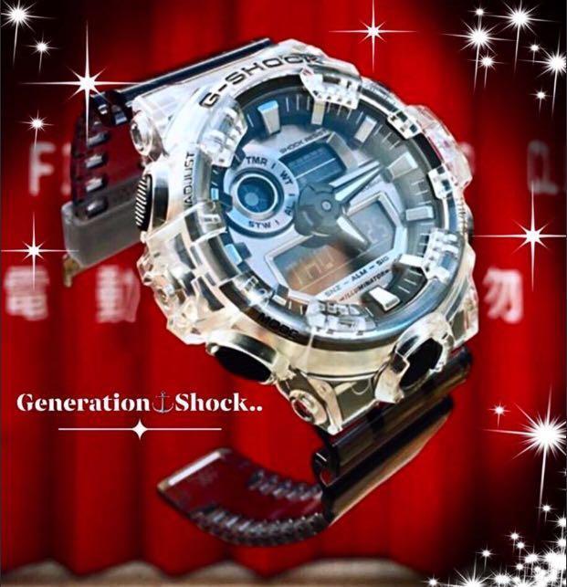 NEW🌟GSHOCK SKELETON : UNISEX DIVER SPORTS WATCH : 100% ORIGINAL AUTHENTIC CASIO G-SHOCK : GA-700SK-1A / GA-700-SK-1A (TRANSPARENT SILVERFISH)