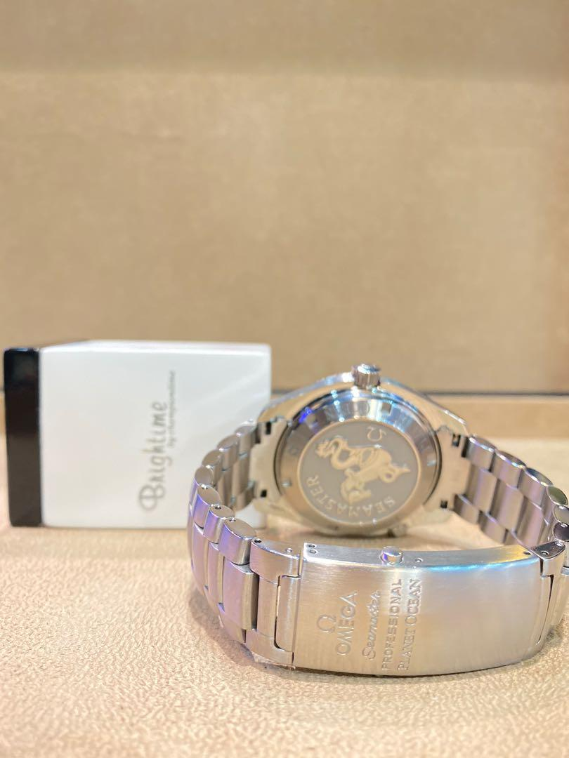 Pre Owned Omega Seamaster Planet Ocean 600m 2200.51.00 Black Dial Automatic Steel Casing Bracelet