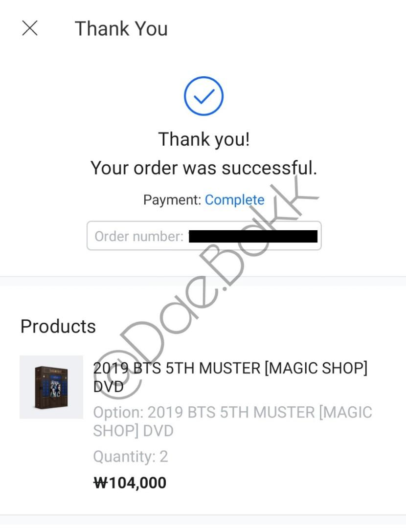 [Proof Of Purchasing] BTS 5th Muster Magic Shop DVD (Read Before Purchase)
