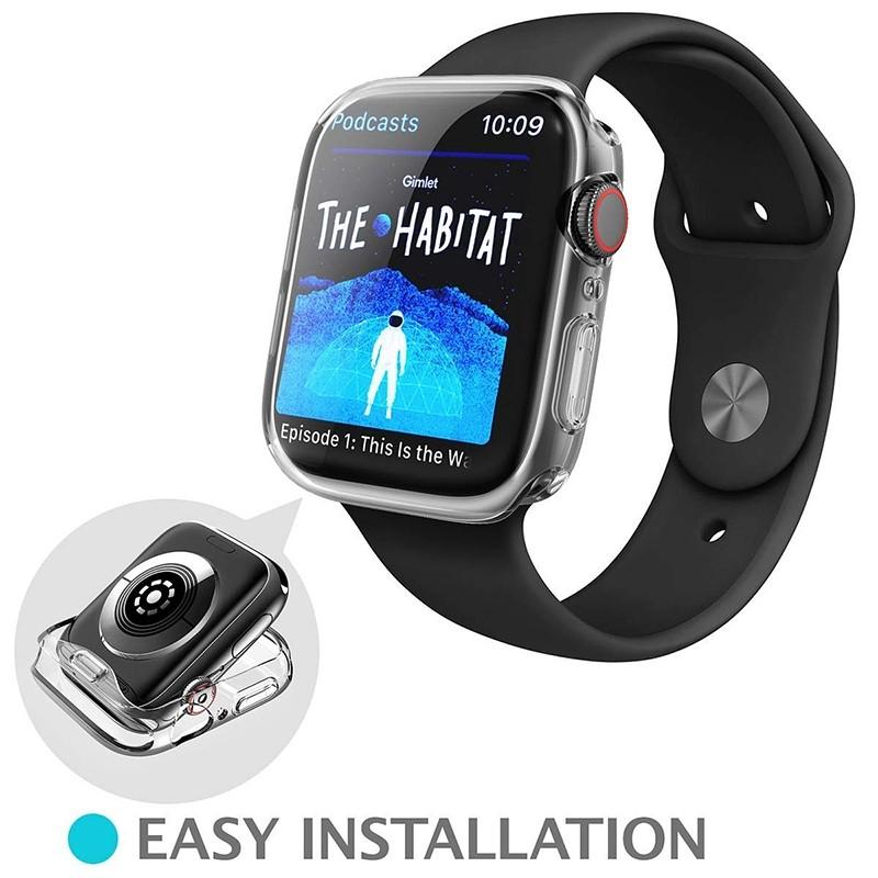 Slim Watch Cover for Apple Watch Case  Soft Clear TPU Screen Protector for iWatch 42MM 44MM 40MM