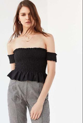 Urban Outfitters Baby Blue Off the Shoulder Top