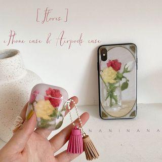 [Flores] 油畫風格Airpods1/2殼&Iphone手機殼   NaniNana