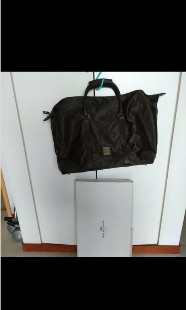 Brand new in box Balenciaga Paris quality shoulder, carry-on bag with genuine leather trimmings