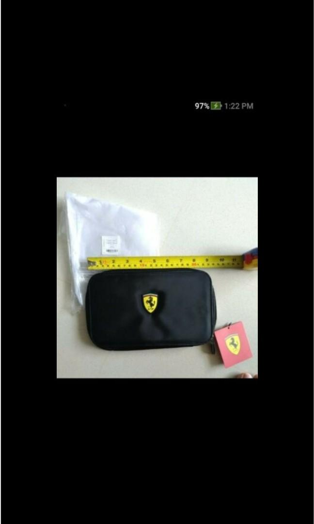 Genuine Official Licensed Product - FERRARI zippered Cards, Cash N Documents Wallet - Multi Compartments - S$49 w Free Delivery