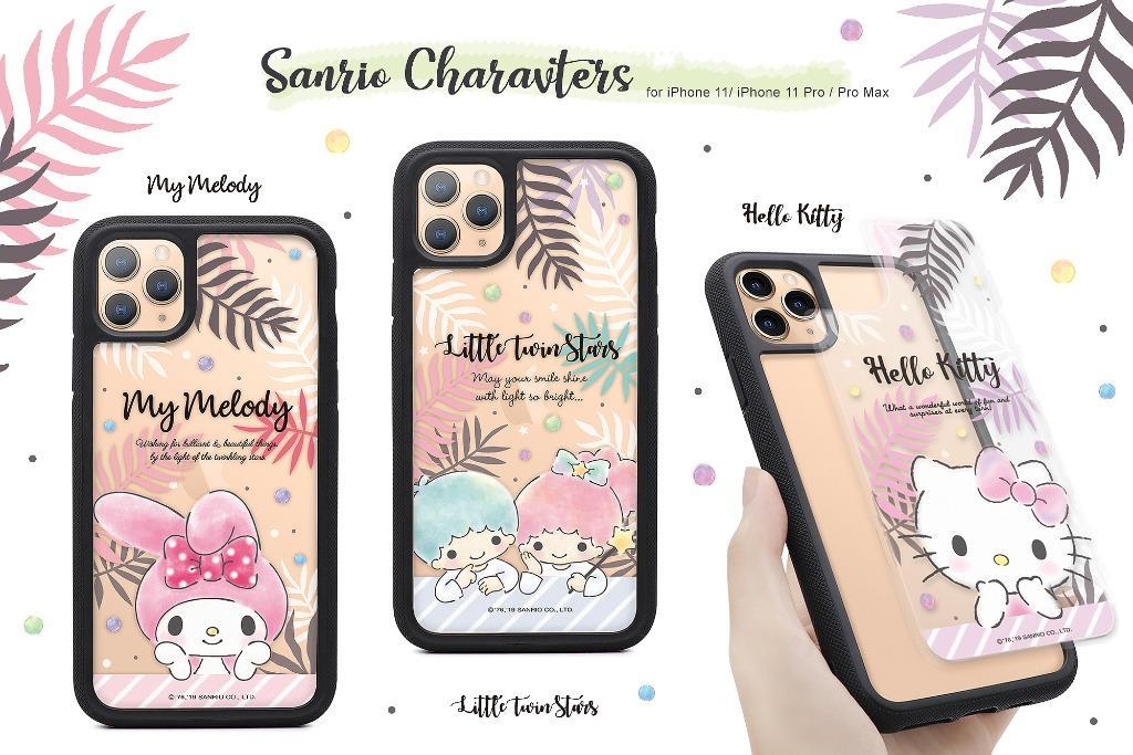 Hello Kitty 雙層彩繪透明防摔殼 美的冒泡系列
