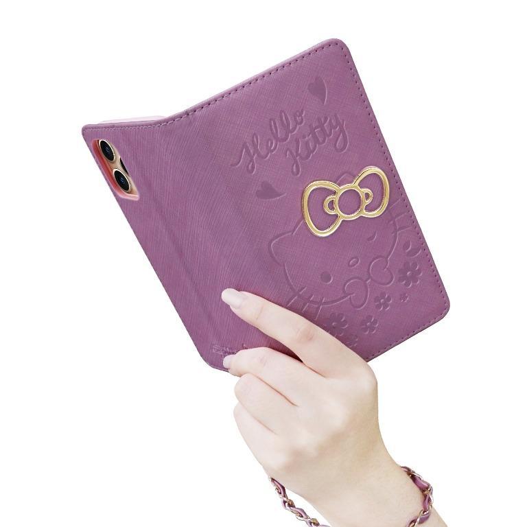 Hello Kitty 側掀皮套 戀愛系列 戀愛紫