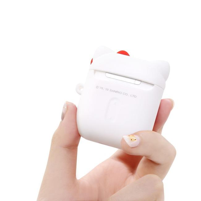 Hello Kitty AirPods 1&2代 藍芽耳機盒保護套 經典白