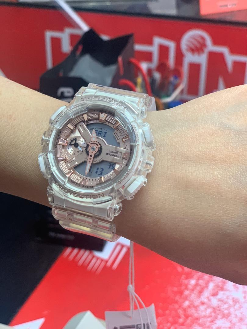 New ❤️ Came back from taiwan G-shock s series transparent X rose gold GMA-S110SR-7A