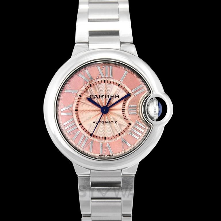 [NEW] Cartier Ballon Bleu de Cartier 33 mm Automatic Pink Dial Stainless Steel Ladies Watch W6920100
