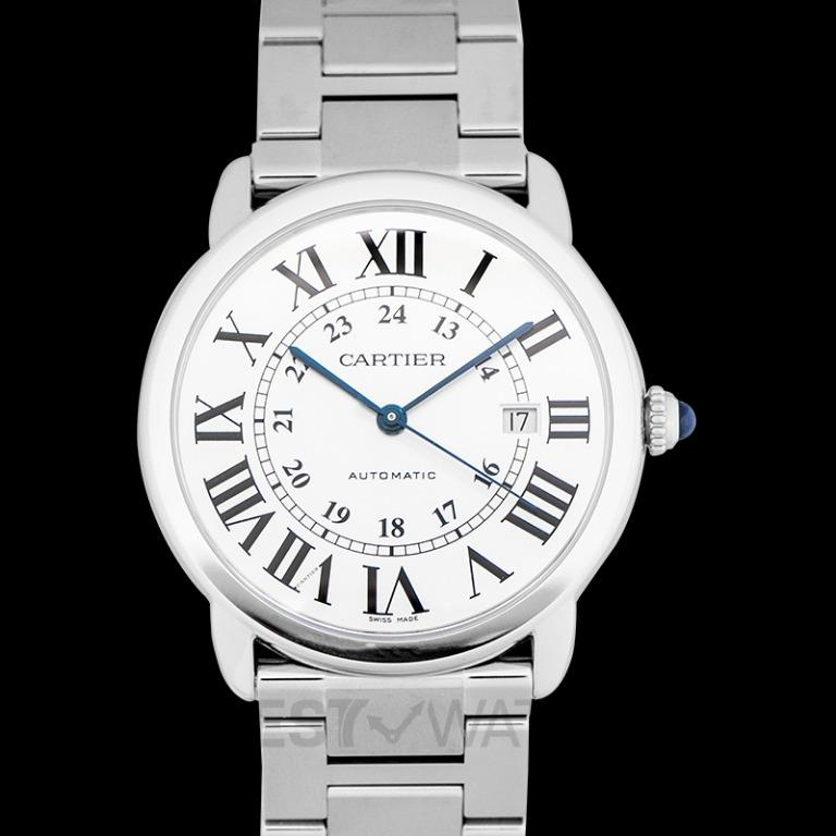 [NEW] Cartier Ronde Solo de Cartier 42 mm Automatic Silver Dial Stainless Steel Men's Watch W6701011
