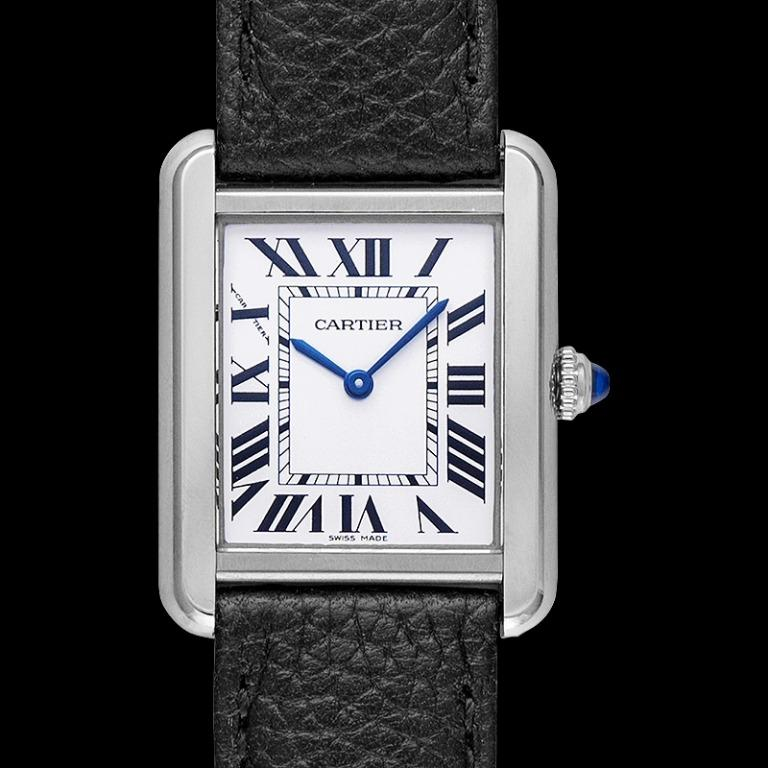 [NEW] Cartier Tank Solo 31 mm x 24.4 mm Quartz Mother of pearl Dial Stainless Steel Ladies Watch WSTA0030