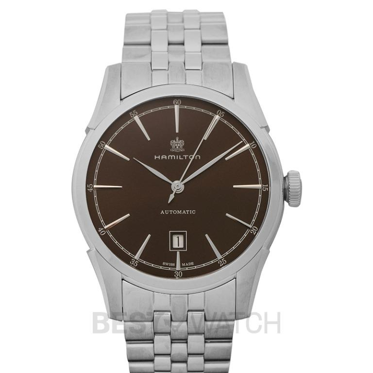 [NEW] Hamilton American Classic Spirit of Liberty Auto Automatic Brown Dial Men's Watch H42415101