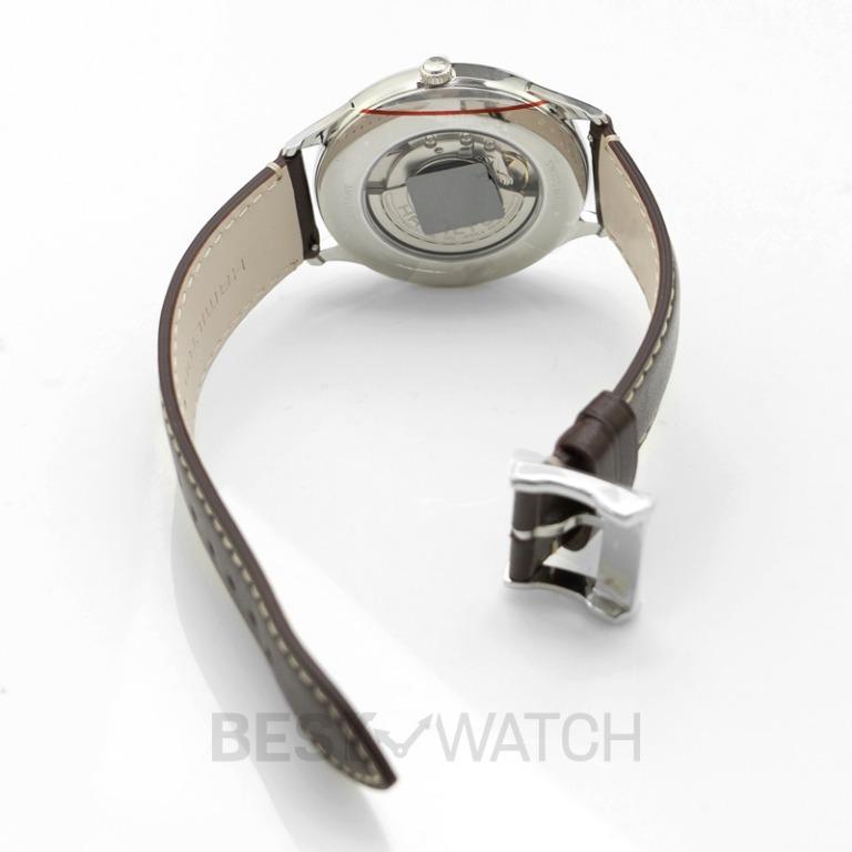 [NEW] Hamilton Jazzmaster Thinline Auto Green Dial Brown Leather Strap Men's Watch H38525561