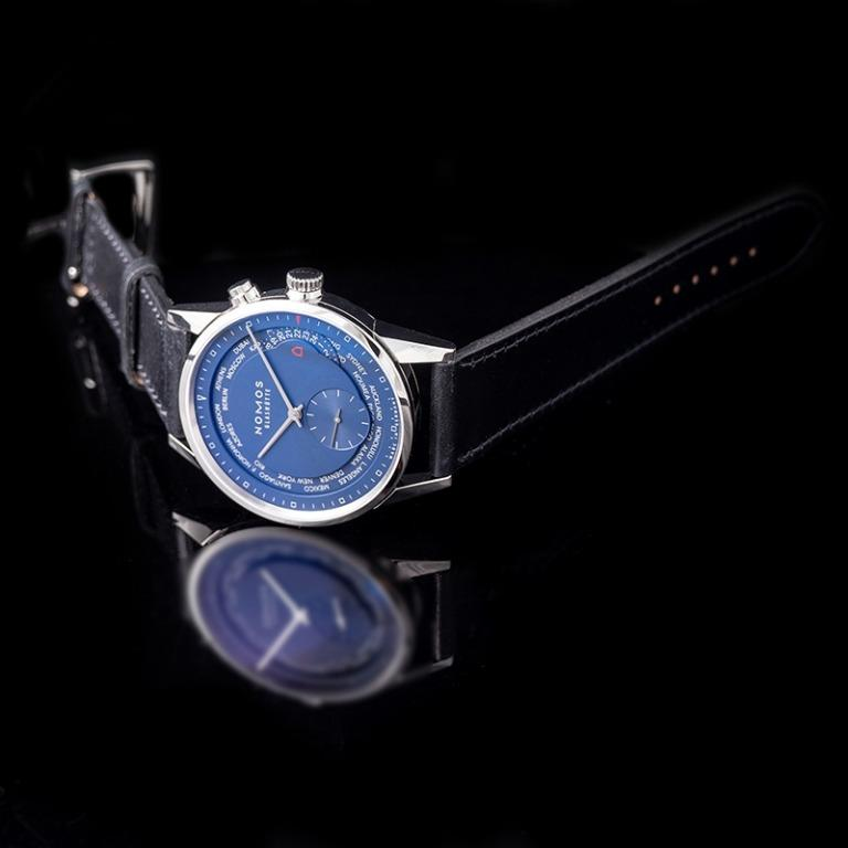 [NEW] Nomos Glashütte ZurIich World Time Midnght Blue Automatic Blue Dial 39.9mm Men's Watch 807