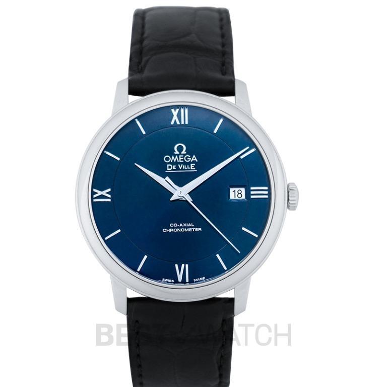 [NEW] Omega De Ville Prestige Co‑Axial 39.5mm Automatic Blue Dial Steel Men's Watch 424.13.40.20.03.001