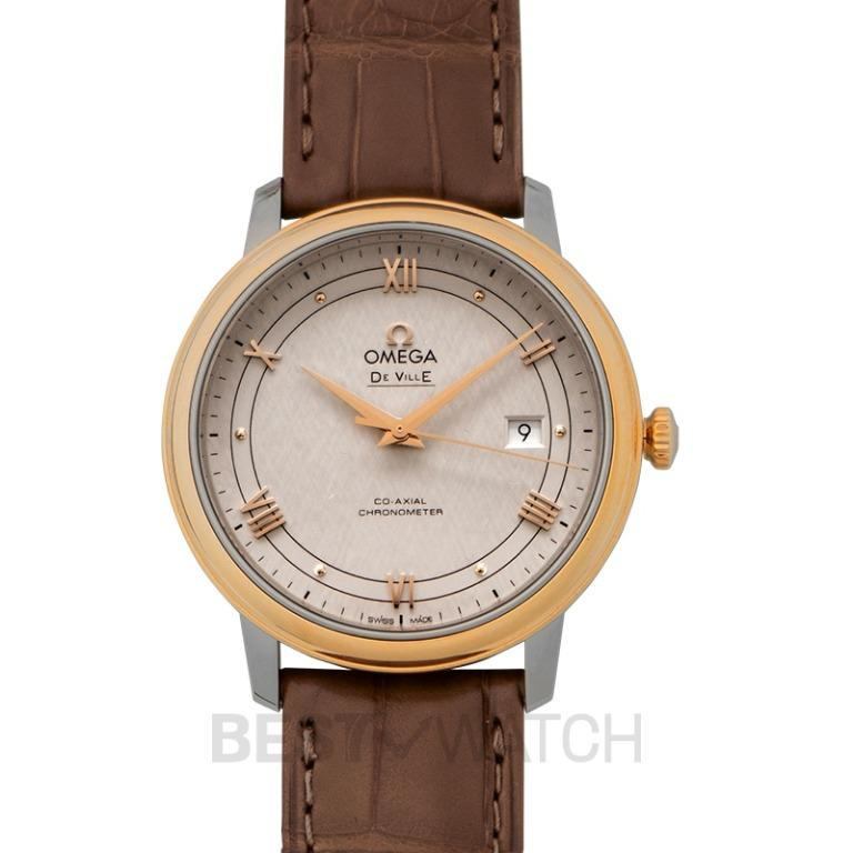 [NEW] Omega De Ville Prestige Co-Axial 39.5mm Automatic Silver Dial Red Gold Men's Watch 424.23.40.20.02.003