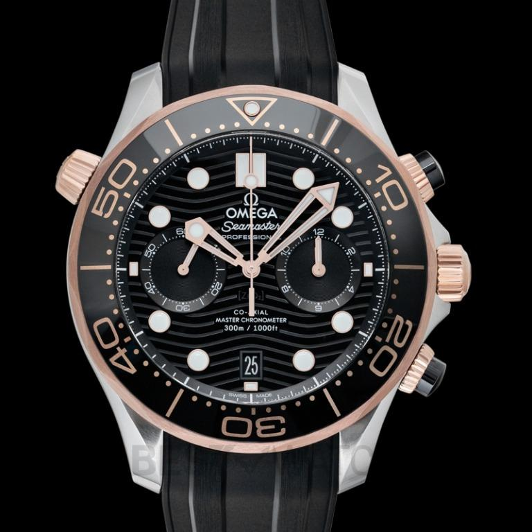 [NEW] Omega Seamaster Co‑Axial Master Chronometer Chronograph 44mm Automatic Black Dial Gold Men's Watch 210.22.44.51.01.001