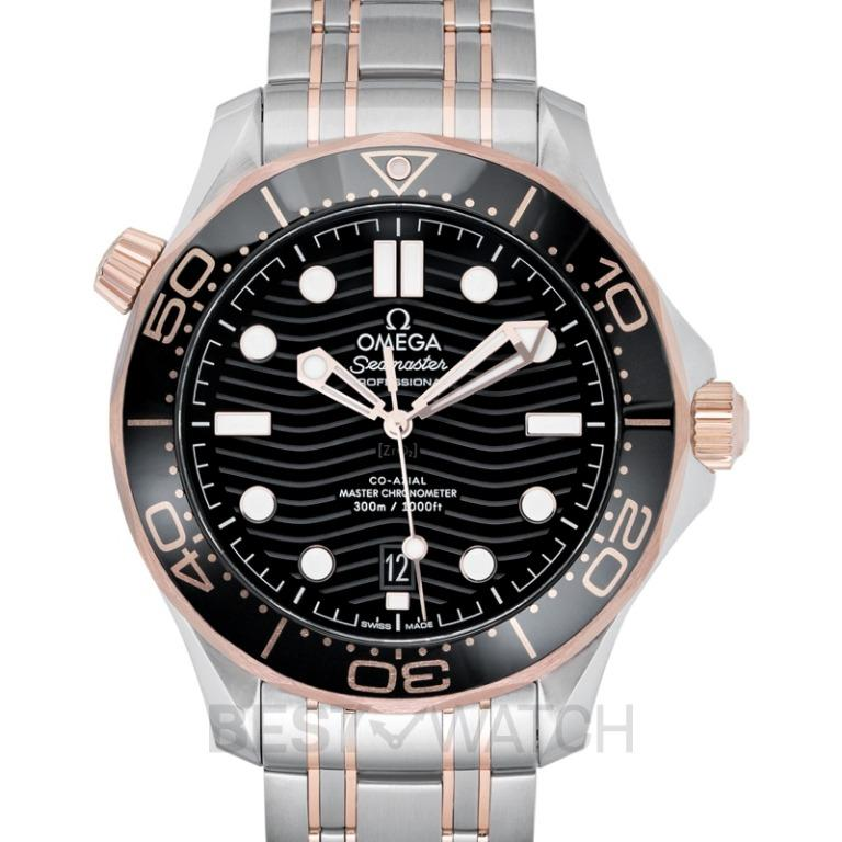 [NEW] Omega Seamaster Diver 300 M Co‑Axial Master Chronometer 42 mm Automatic Black Dial Gold Men's Watch 210.20.42.20.01.001