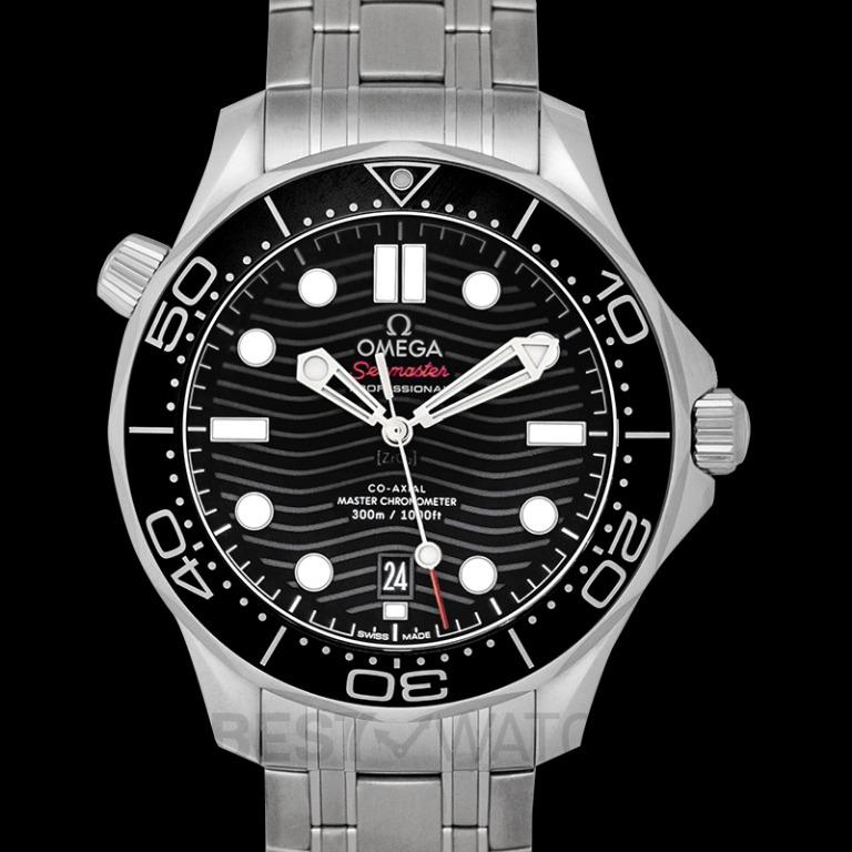 [NEW] Omega Seamaster Diver 300 M Co-Axial Master Chronometer 42 mm Automatic Black Dial Steel Men's Watch 210.30.42.20.01.001