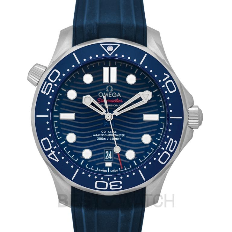 [NEW] Omega Seamaster Diver 300 M Co-Axial Master Chronometer 42 mm Automatic Blue Dial Stainless Steel Men's Watch 210.32.42.20.03.001