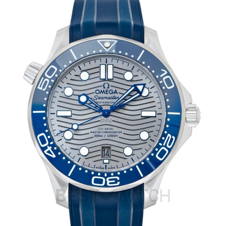 [NEW] Omega Seamaster Diver 300 M Co-Axial Master Chronometer 42mm Automatic Grey Dial Stainless Steel Men's Watch 210.32.42.20.06.001