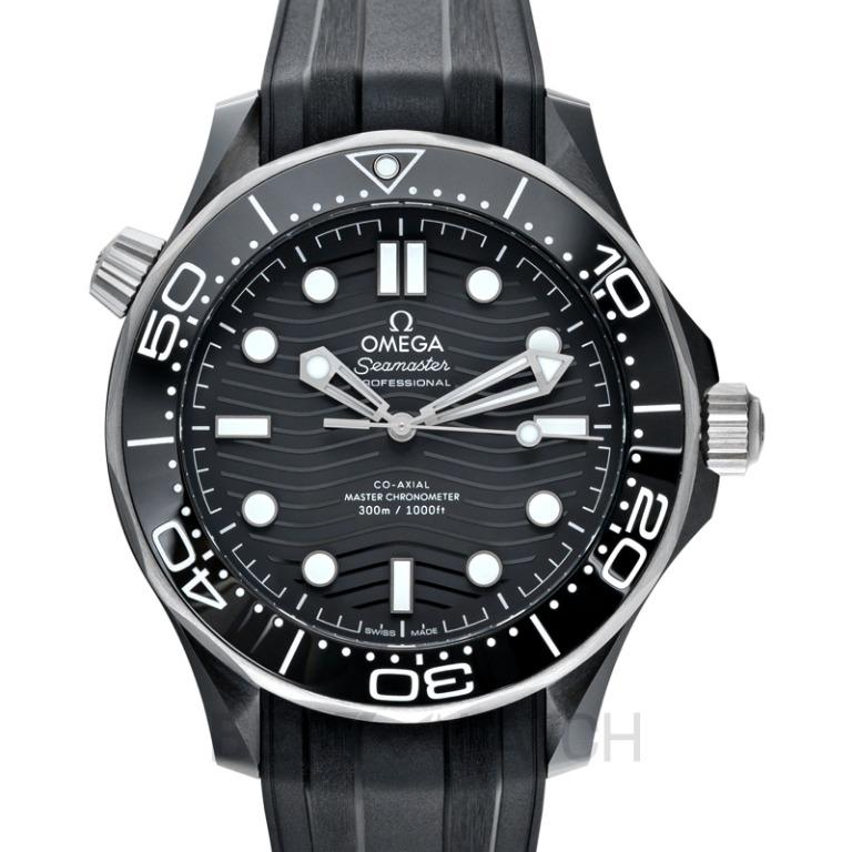 [NEW] Omega Seamaster Diver 300 M Co-Axial Master Chronometer 43.5 mm Automatic Black Dial Ceramic Men's Watch 210.92.44.20.01.001