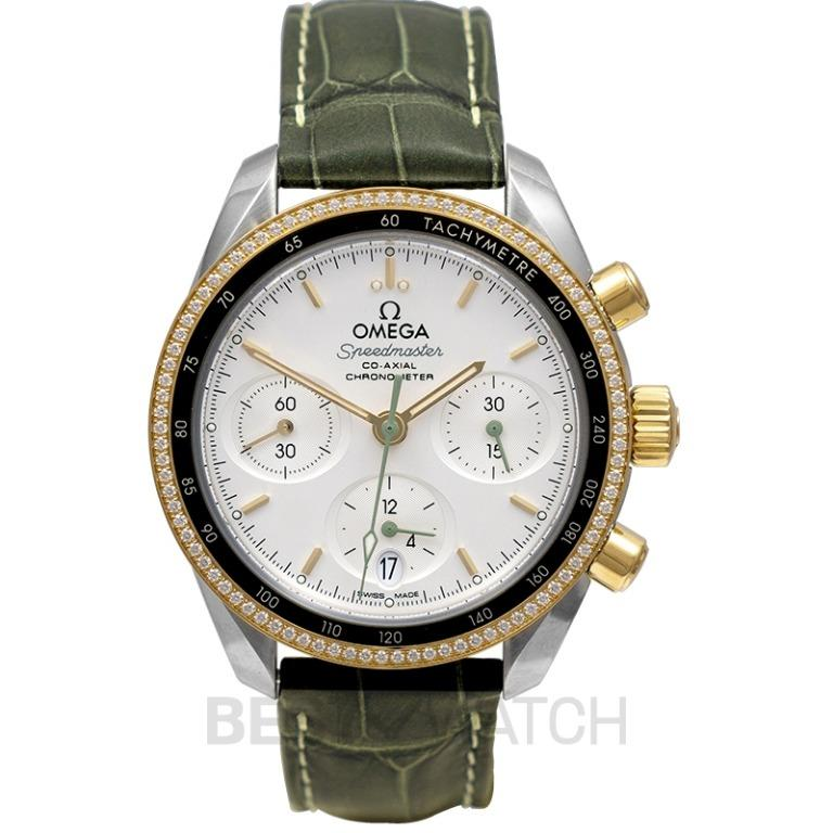 [NEW] Omega Speedmaster 38 mm Co‑Axial Chronograph 38mm Automatic Silver Dial Yellow Gold Men's Watch 324.28.38.50.02.001